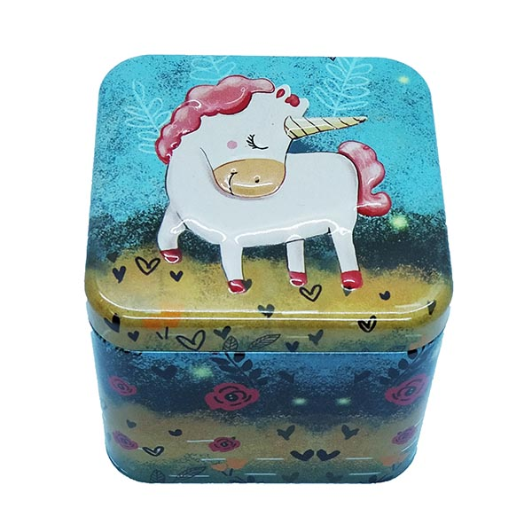 Cubic Metal Box Baby Unicorn