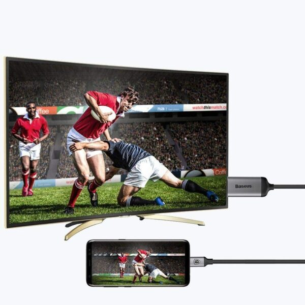 Baseus CATSY-0G 1.8m Type-C Male to HDMI Male 4K HD Video Adapter Cable