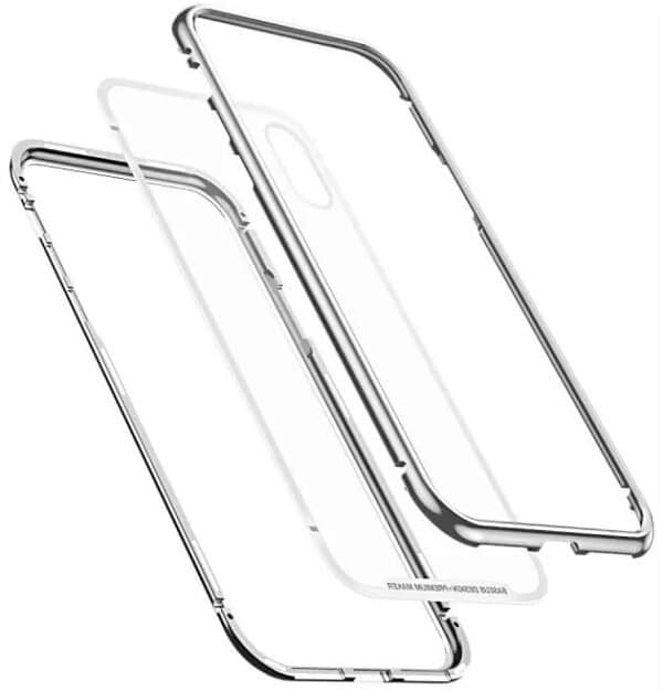 Baseus Magnetic Case For iPhone X, (silver, transparent, magnetic)