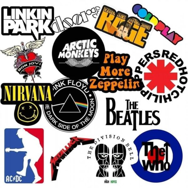 Music Bands Value Stickers Pack