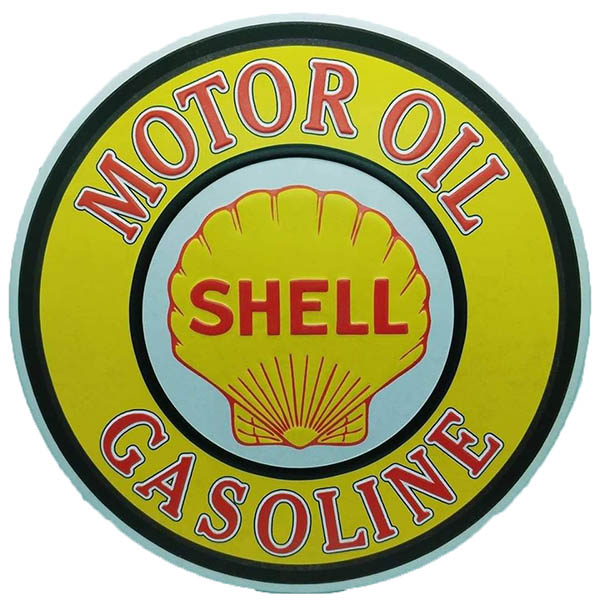 Shell round Embossed Metal Wall Poster