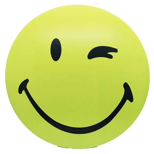 Smiley round Embossed Metal Wall Poster