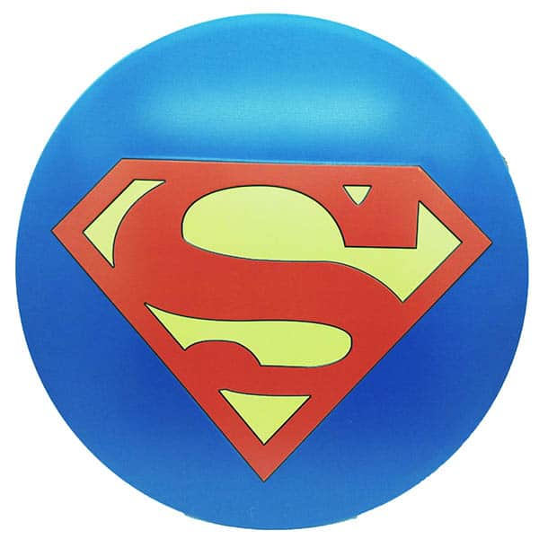Superman Round Embossed Metal Wall Poster