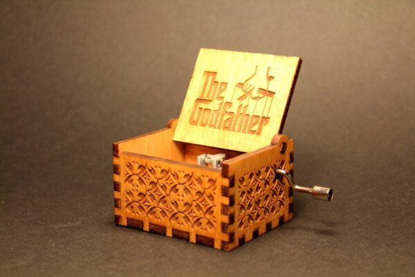 The GodFather Engraved wooden music box
