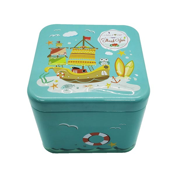 Cubic Tin Box Lovely Day
