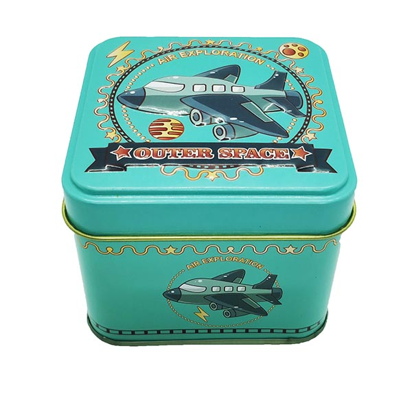 Cubic Tin Box Outer Space
