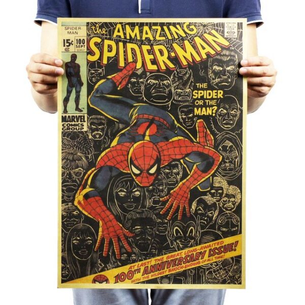 Spider Man kraft paper poster