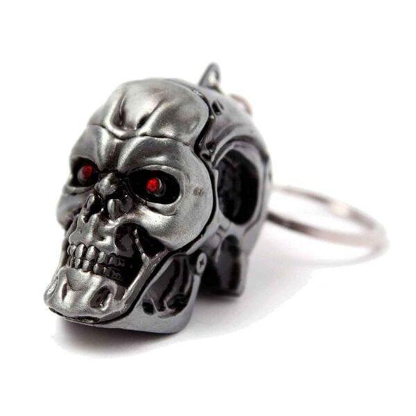 Terminator Skull Keychain