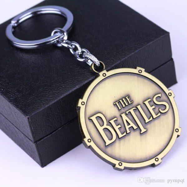The Beatles Metal Keychain