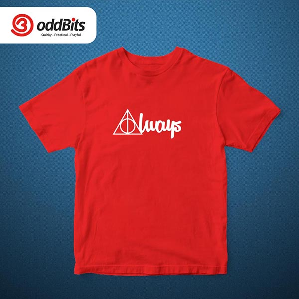 Harry Potter Always Tshirt Red