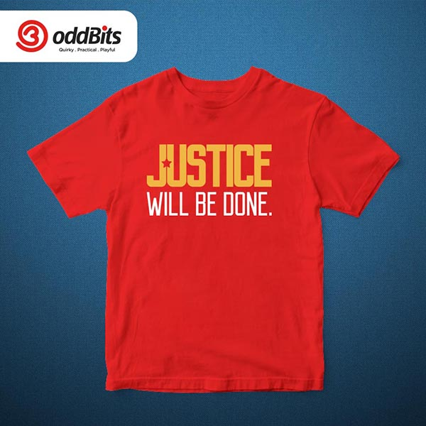 Justice Will Be Done Tshirt Red