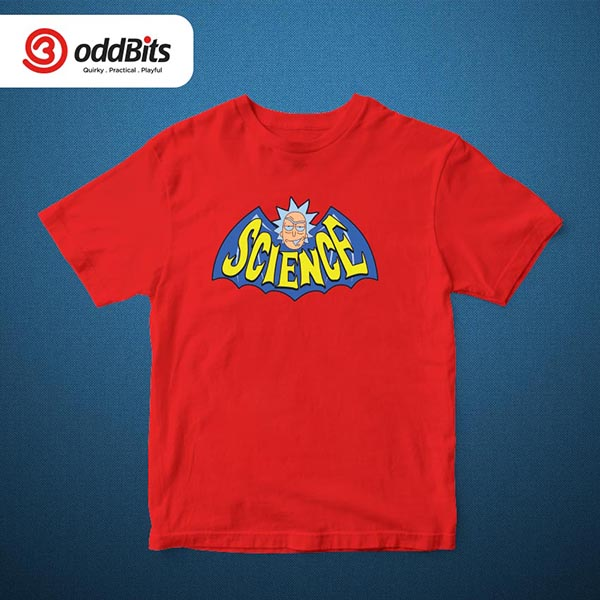 Rick And Morty Science Tshirt Red