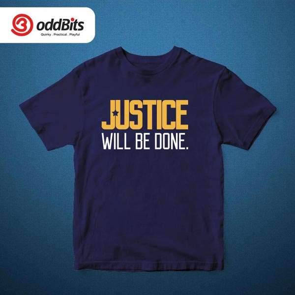 Justice Will Be Done Tshirt Navy
