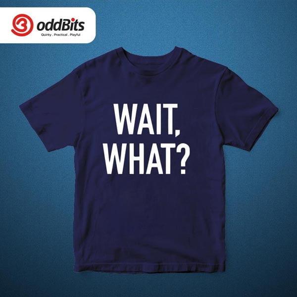Wait What? Graphic Tshirt Navy