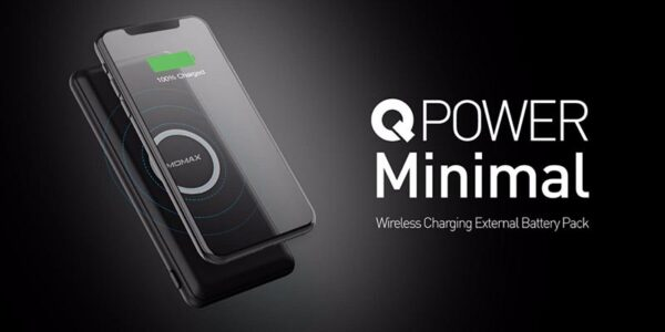 Momax - Q.Power Minimal 10W Wireless Power Bank 10000mAh Black IP89D