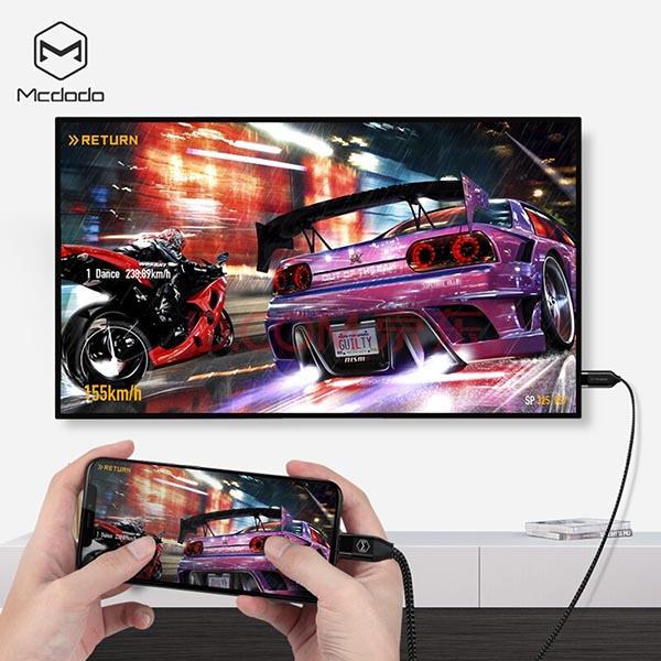 MCDODO CA-588 Type-C to HDMI 4K HD Conversion Cable 2m - Black