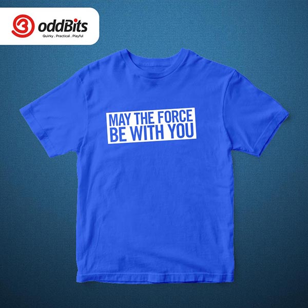May The Force Tshirt Blue