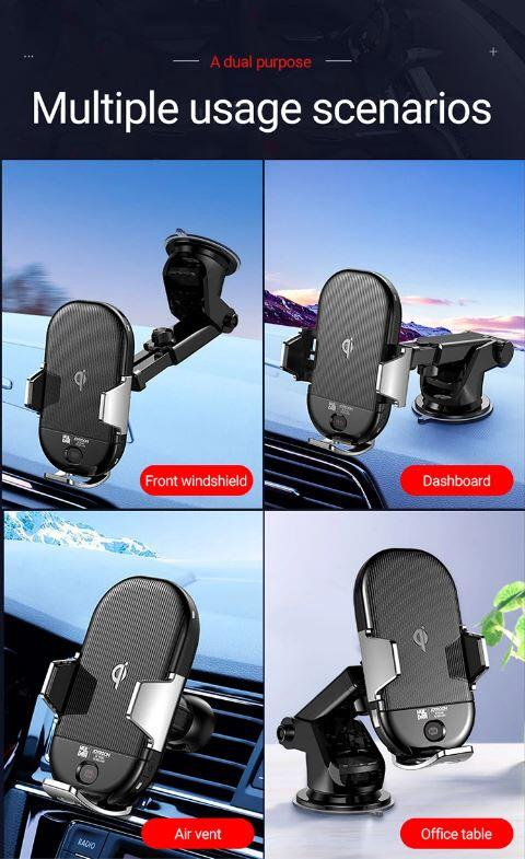 JOYROOM JR-ZS187 Automatic Wireless Car Charger Magnetic Charger Mobile Holder For Car