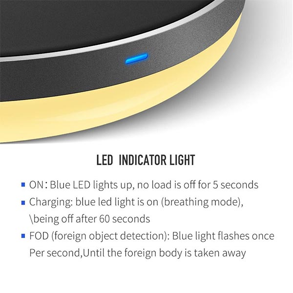 Mcdodo CH-525 - LED Night Reading Light Mat with Wireless Fast Charging Base