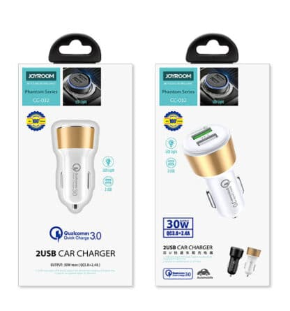 JOYROOM CC-032 2.4A QC 3.0 Dual USB Car Charger Fast Charging