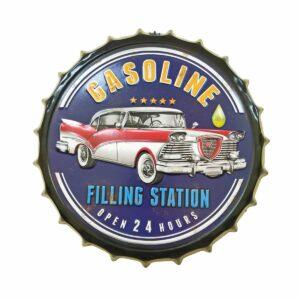 Gasoline Station Metal Decorative Wall Hanging Bottle Cap
