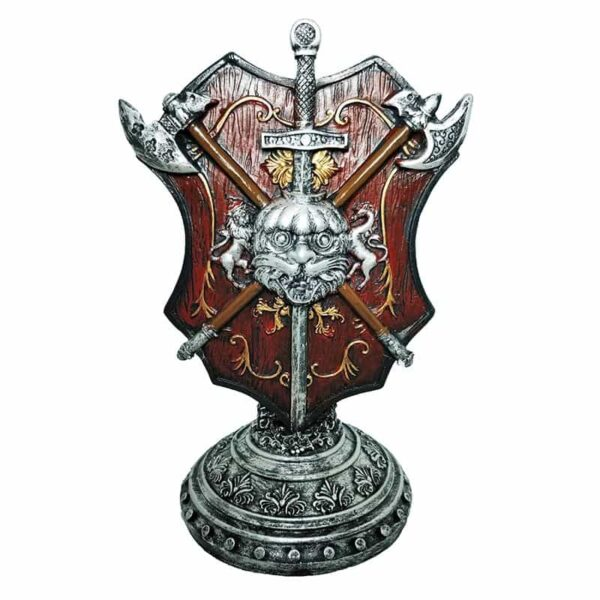 Resin Medieval Shield Stand
