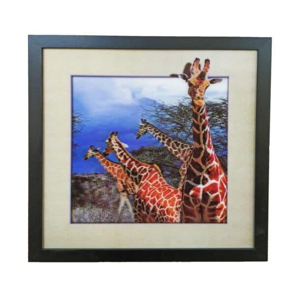 Lenticular 3D Framed Wall Art Wild Giraffe