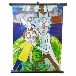 Rick And Morty Space Ship Fabric Poster