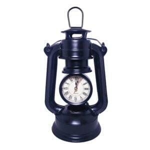 Vintage Style Oil Lamp Desk Clock