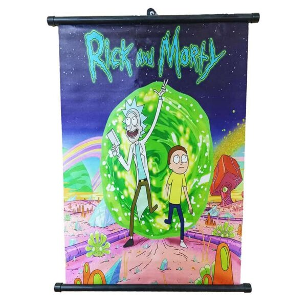 Rick And Morty Space Fabric Poster