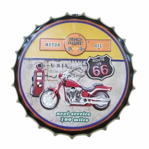 Route 66 Station Decorative Wall Hanging Bottle Cap