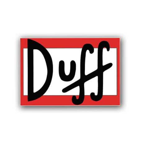 Simpsons Duff Vinyl Sticker