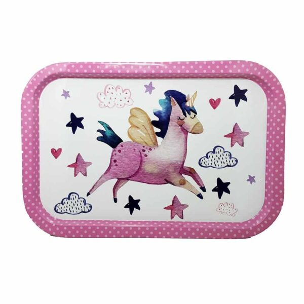 Mid Tin tray: Flying Unicorn