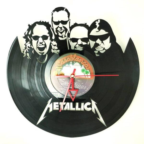 Metallica 2 Vinyl Record Clock