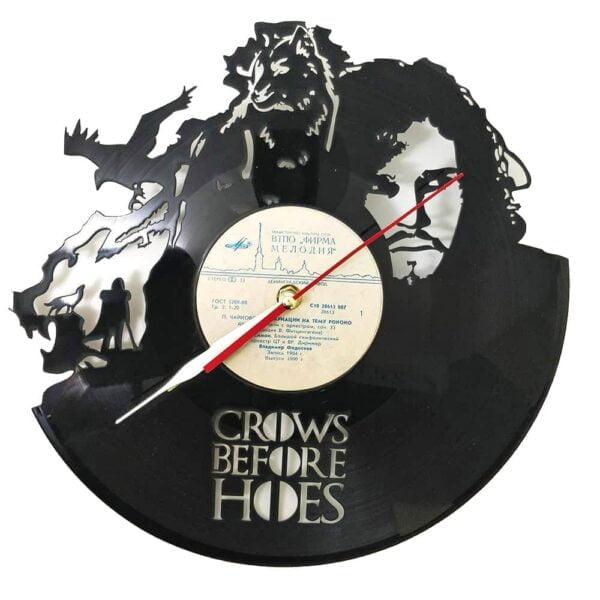 Game Of Thrones Crows Vinyl Record Clock