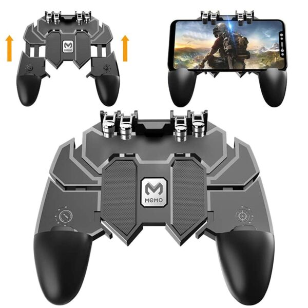 AK66 Pubg Mobile Game Controller   6 Fingers GamePad   For All Android, Apple iPhone Devices