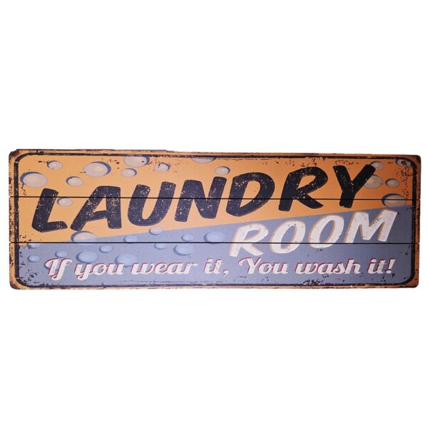 Laundry Room Wooden Poster