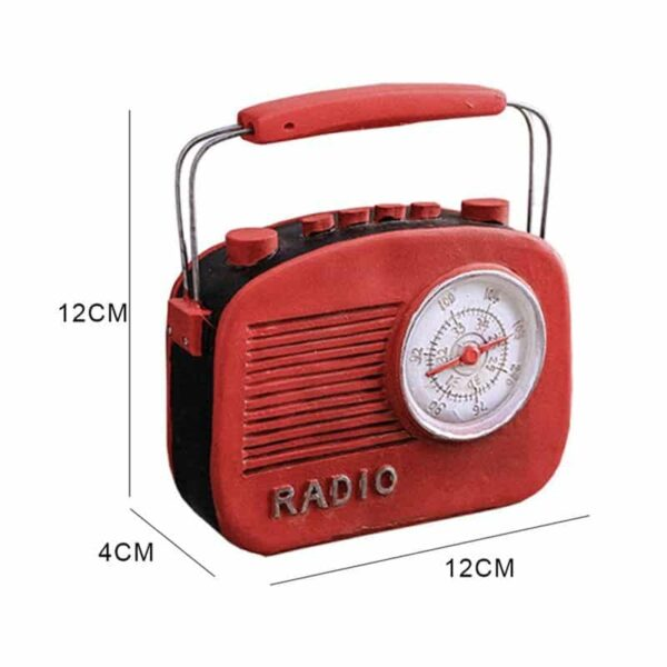 Retro Red Mini Radio Model Resin Hand crafted Home Classic Decoration Gift Coin Bank