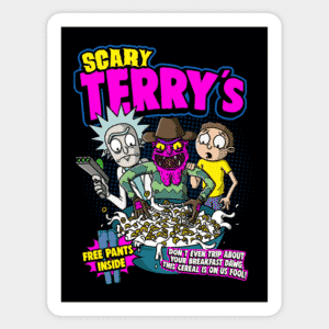 Rick And Morty Scary Terry Vinyl Sticker
