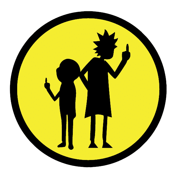 Rick And Morty Silhouette Vinyl Sticker