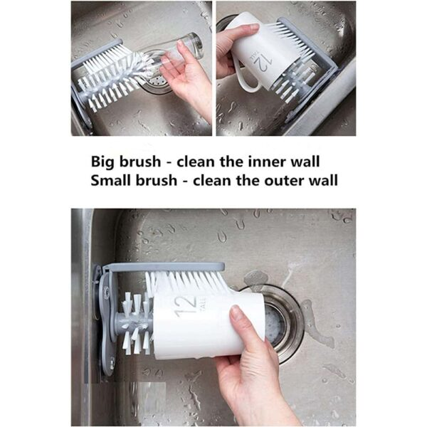 Sink Self Stand Bottle Cleaning Brush