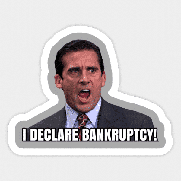 The Office Bankruptcy Vinyl Sticker
