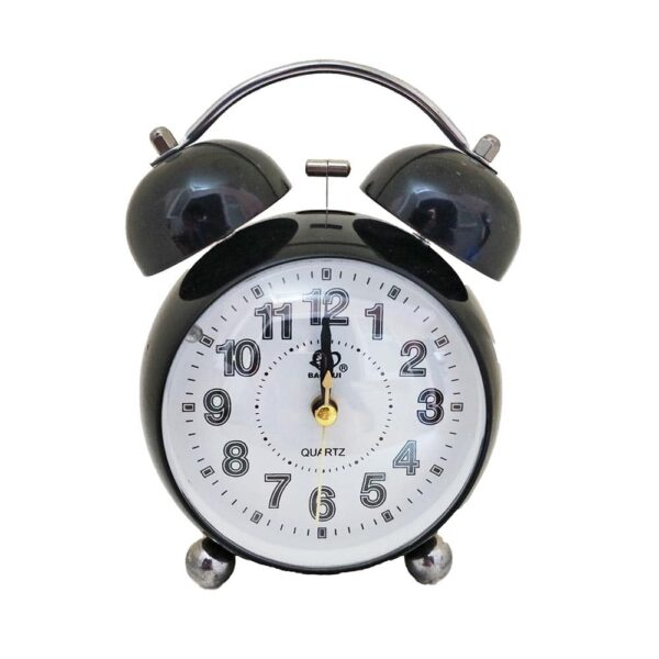 Vintage Bell Metal Mickey Mouse Desk Alarm Clock with Night Led Light