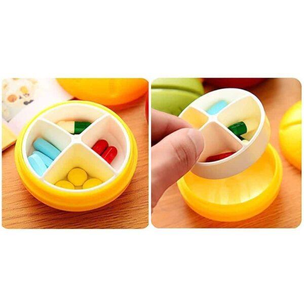 4 compartment Travel Pill Box Medicine Storage Dispenser Random color