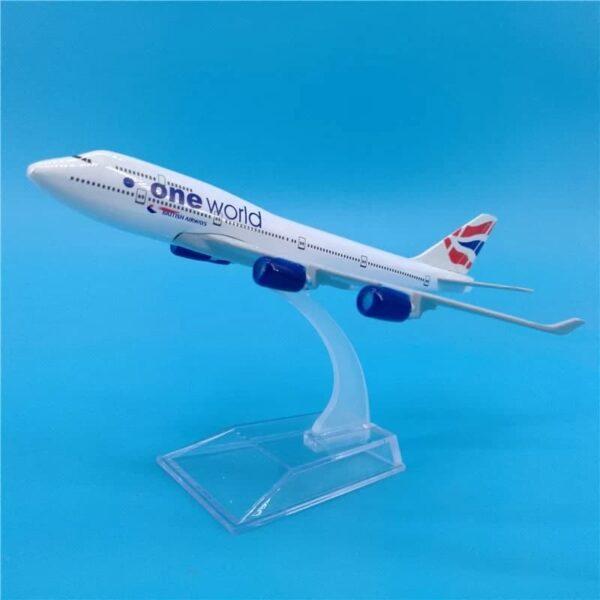 British Airways ONE WORLD Boeing 747 B747 Metal Airplane Model 1:400