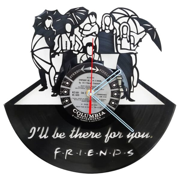 Friends I'll Be There For You Vinyl Record Clock