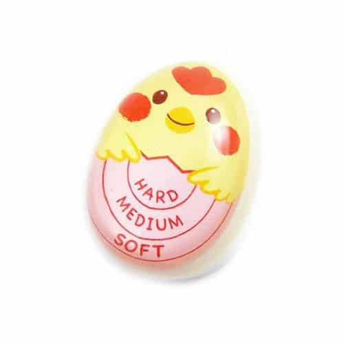 Home Egg Timer Color Changing, Cute Chick Character, Reusable Silicone Egg Boiler Timer, Enjoy Soft Medium Hard Boiled Eggs, Must-Have Kitchen Gadget Accessories