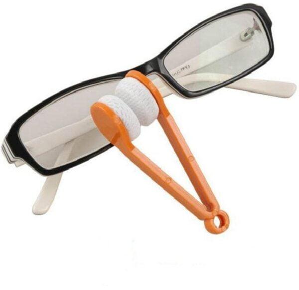 Mini Sun Glasses Eyeglass Microfiber Spectacles Cleaner Soft Brush Cleaning Chips Mini Microfiber Random Color
