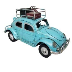 Retro VW Beetle Traveling Car Metal Model