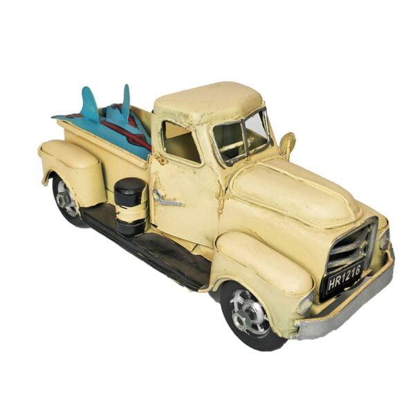 Vintage Truck With Surf Boards Metal Model